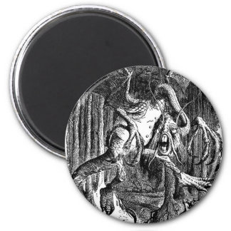 The Jabberwocky 2 Inch Round Magnet