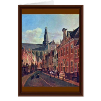 The Jansstraat In Haarlem With The St. Bavochurch Card