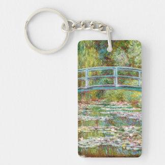 The Japanese Bridge 1899 Claude Monet Keychain
