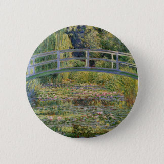 The Japanese Bridge by Claude Monet 2 Inch Round Button