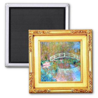 The Japanese Bridge by Claude Monet  Magnet