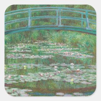 The Japanese bridge Claude Monet Square Sticker