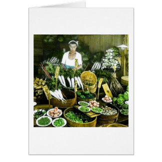 The Japanese Farmers Market Fall Harvest Vintage Card