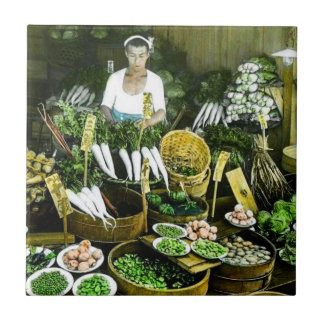 The Japanese Farmers Market Fall Harvest Vintage Ceramic Tiles