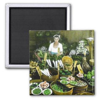 The Japanese Farmers Market Fall Harvest Vintage Magnet