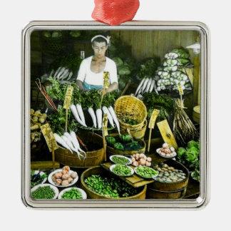 The Japanese Farmers Market Fall Harvest Vintage Metal Ornament
