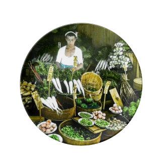 The Japanese Farmers Market Fall Harvest Vintage Plate