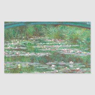 The Japanese Footbridge by Claude Monet Sticker