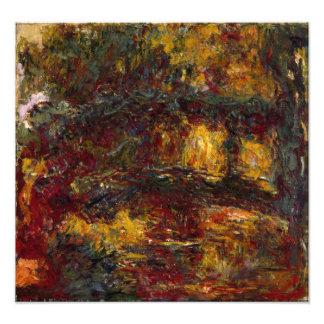 The Japanese Footbridge Giverny by Claude Monet Photographic Print