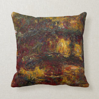The Japanese Footbridge, Giverny by Claude Monet Throw Pillow