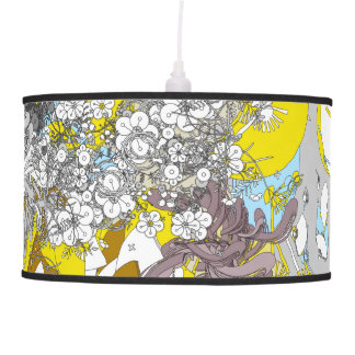 The Japanese retro flower and fan and plant Pendant Lamps