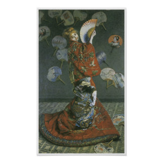 The Japanese Woman by Claude Monet Poster