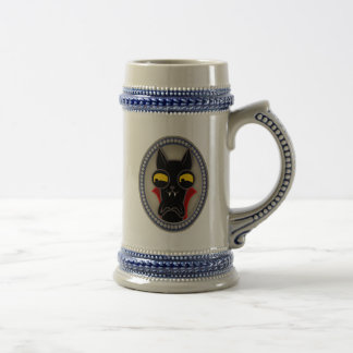 The jar of Drácula Beer Stein