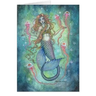 The Jellies Mermaid and Jellyfish Fantasy Art Card