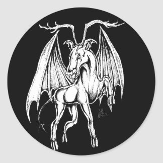 The Jersey Devil Classic Round Sticker