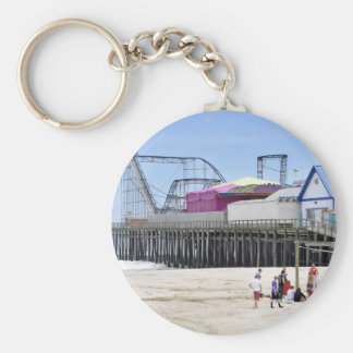 The Jersey Shore at Seaside Heights Basic Round Button Keychain