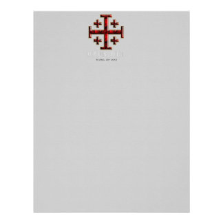 The Jerusalem Cross - ver 1 - Opus Dei - Black Letterhead Template