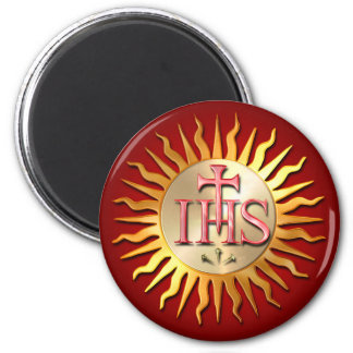 The Jesuit Seal 2 Inch Round Magnet