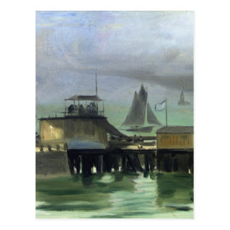 The Jetty at Boulogne by Edouard Manet Postcard