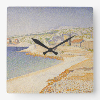 The Jetty at Cassis Square Wall Clock