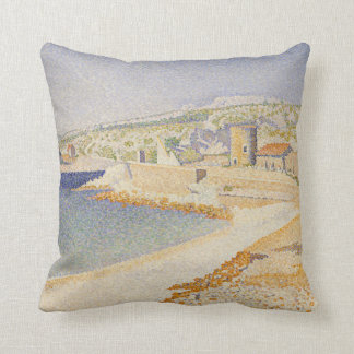 The Jetty at Cassis Throw Pillow