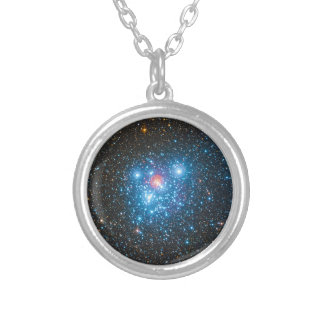 The Jewel Box Kappa Crucis Star Cluster NGC 4755 Silver Plated Necklace