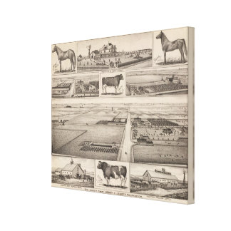 The Jewett Farm, Cheney, Kansas Gallery Wrapped Canvas