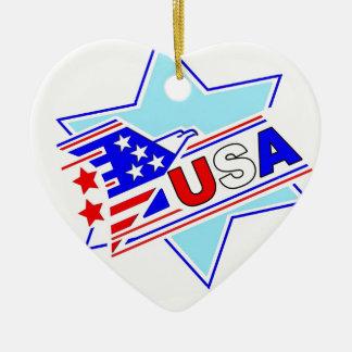 The Jewish American Ceramic Heart Ornament