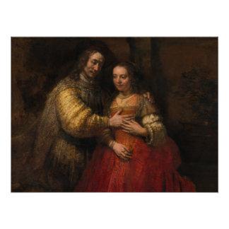 The Jewish Bride by Rembrandt van Rijn Perfect Poster