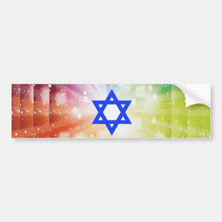 The Jewish burst of lights. Bumper Sticker