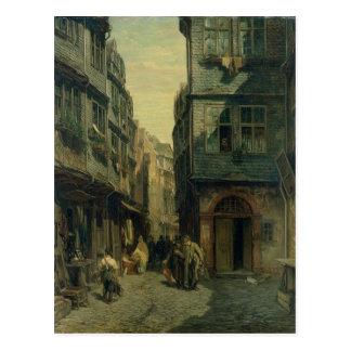 The Jewish Quarter in Frankfurt, 1883 Postcard