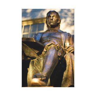 The John Harvard Statue Canvas Print