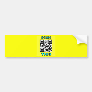 THE JOKE IS ON YOU (Qr Message Code Product) Bumper Stickers
