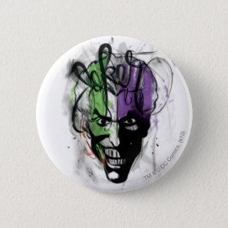 The Joker Neon Airbrush Portrait 2 Inch Round Button
