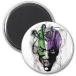 The Joker Neon Airbrush Portrait 2 Inch Round Magnet