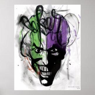 The Joker Neon Airbrush Portrait Poster