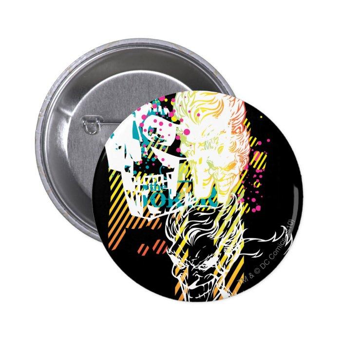 The Joker Neon Montage 2 Inch Round Button