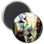 The Joker Neon Montage 2 Inch Round Magnet