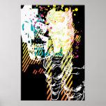 The Joker Neon Montage Poster