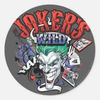 The Joker s Wild Round Sticker