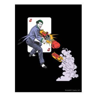 The Joker Shoots Laughing Gas Postcard