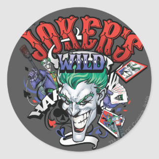 The Joker's Wild Round Sticker