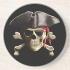 The Jolly Roger Pirate Skull Coaster