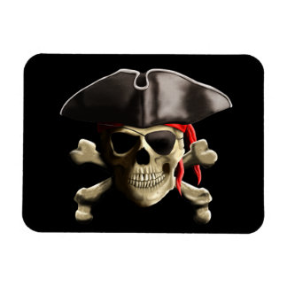 The Jolly Roger Pirate Skull Magnet