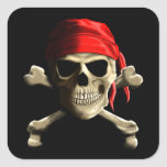 The Jolly Roger Square Stickers
