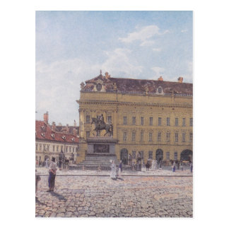 The Josef square in Vienna by Rudolf von Alt Postcard