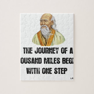 the journey of a thousand miles begins with a sing jigsaw puzzle