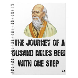 the journey of a thousand miles begins with a sing spiral notebook