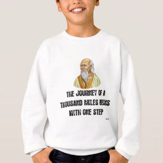 the journey of a thousand miles begins with a sing sweatshirt