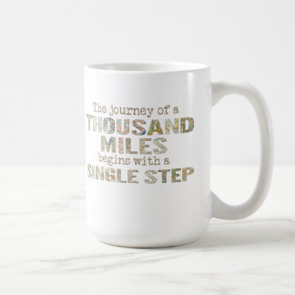 The Journey of a Thousand Miles mug